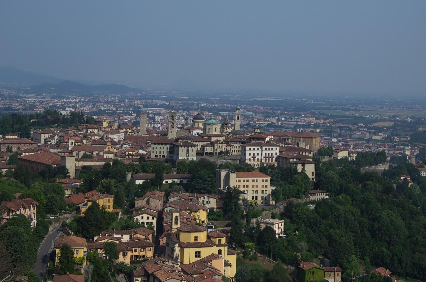 Pohled na Horní město, Bergamo