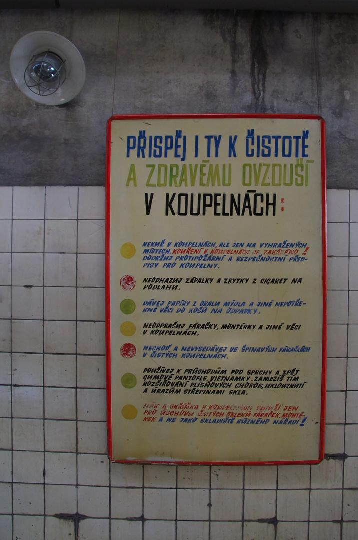 Důl Michal, koupelny