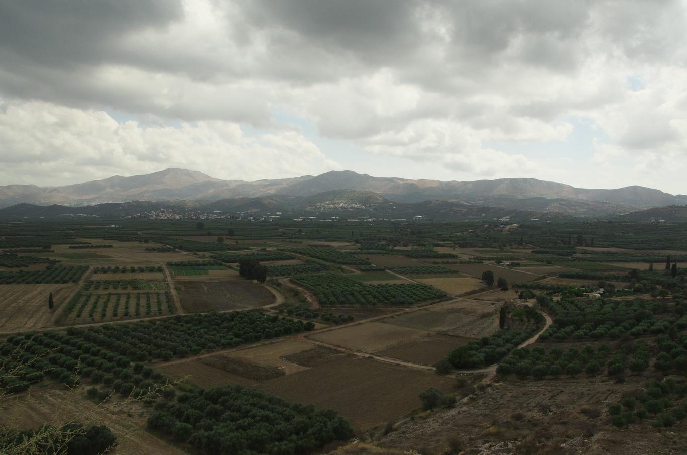 Pohled z paláce Festós