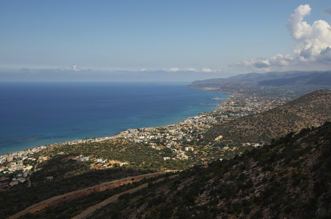 Pohled na severní pobřeží Kréty