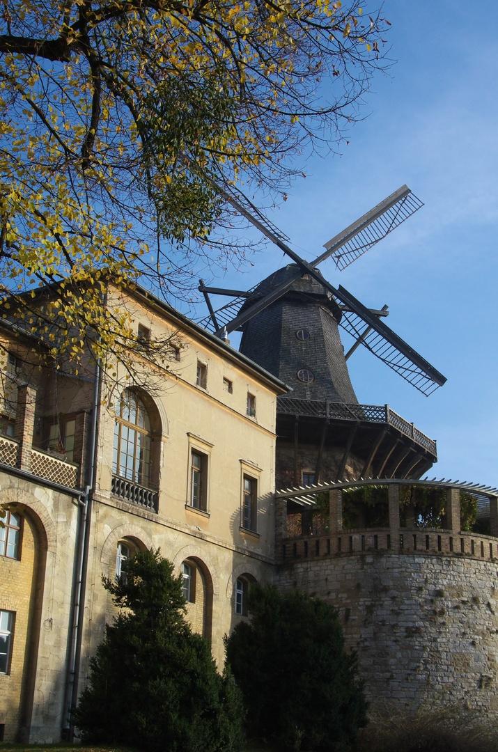 Historický mlýn, park Sanssouci