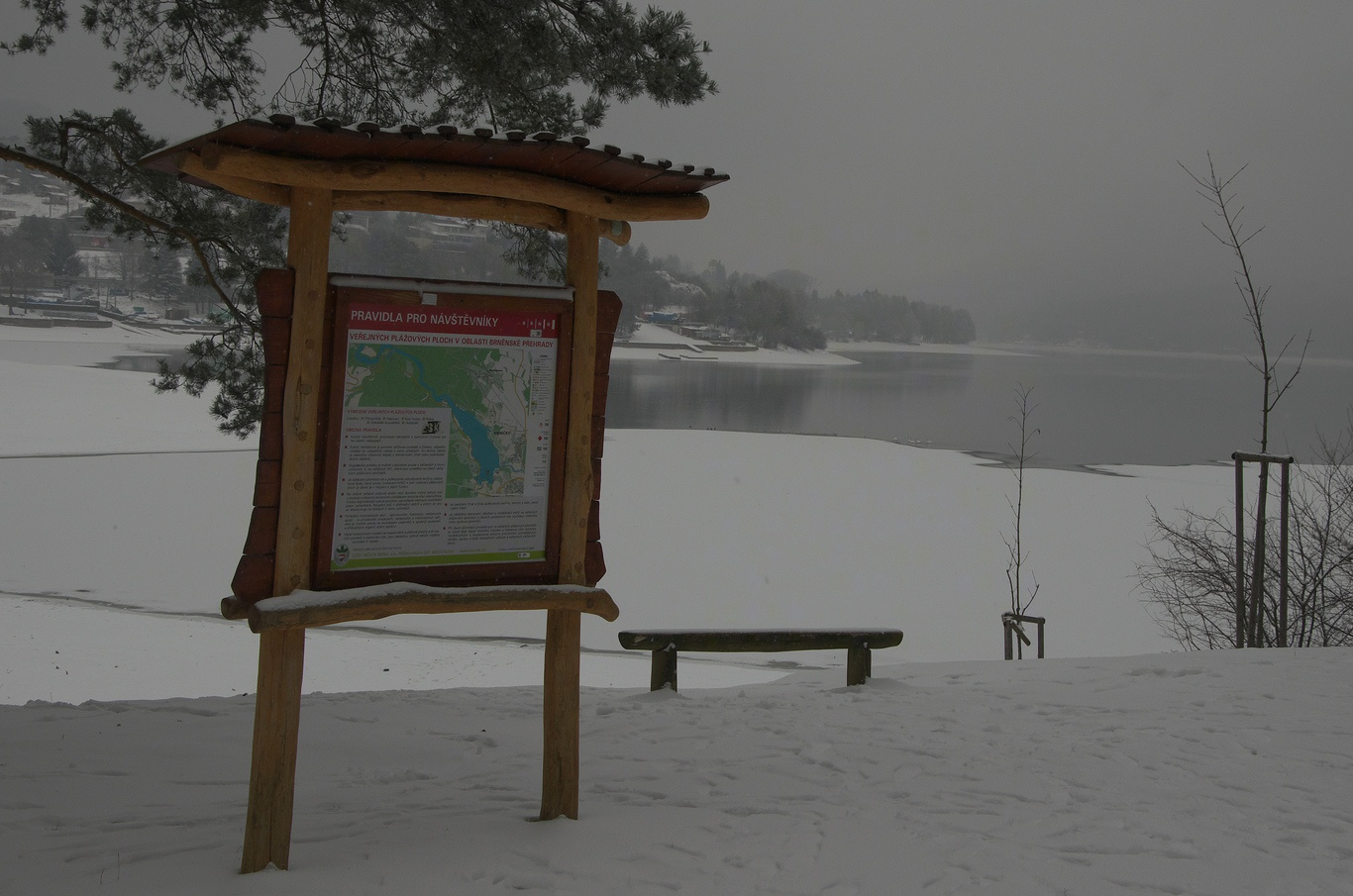Zimní přehrada