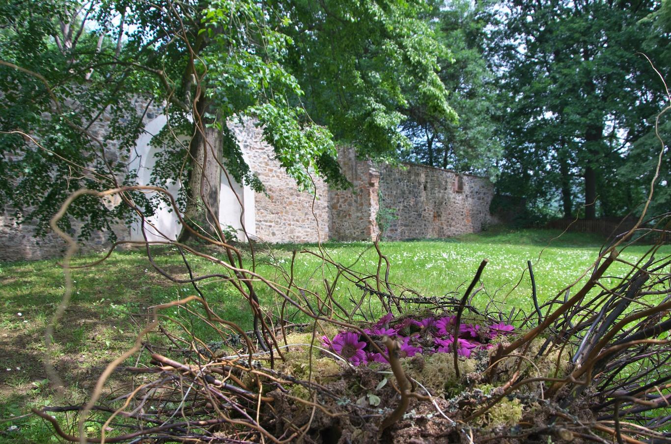 Sázavský klášter, severní zahrada