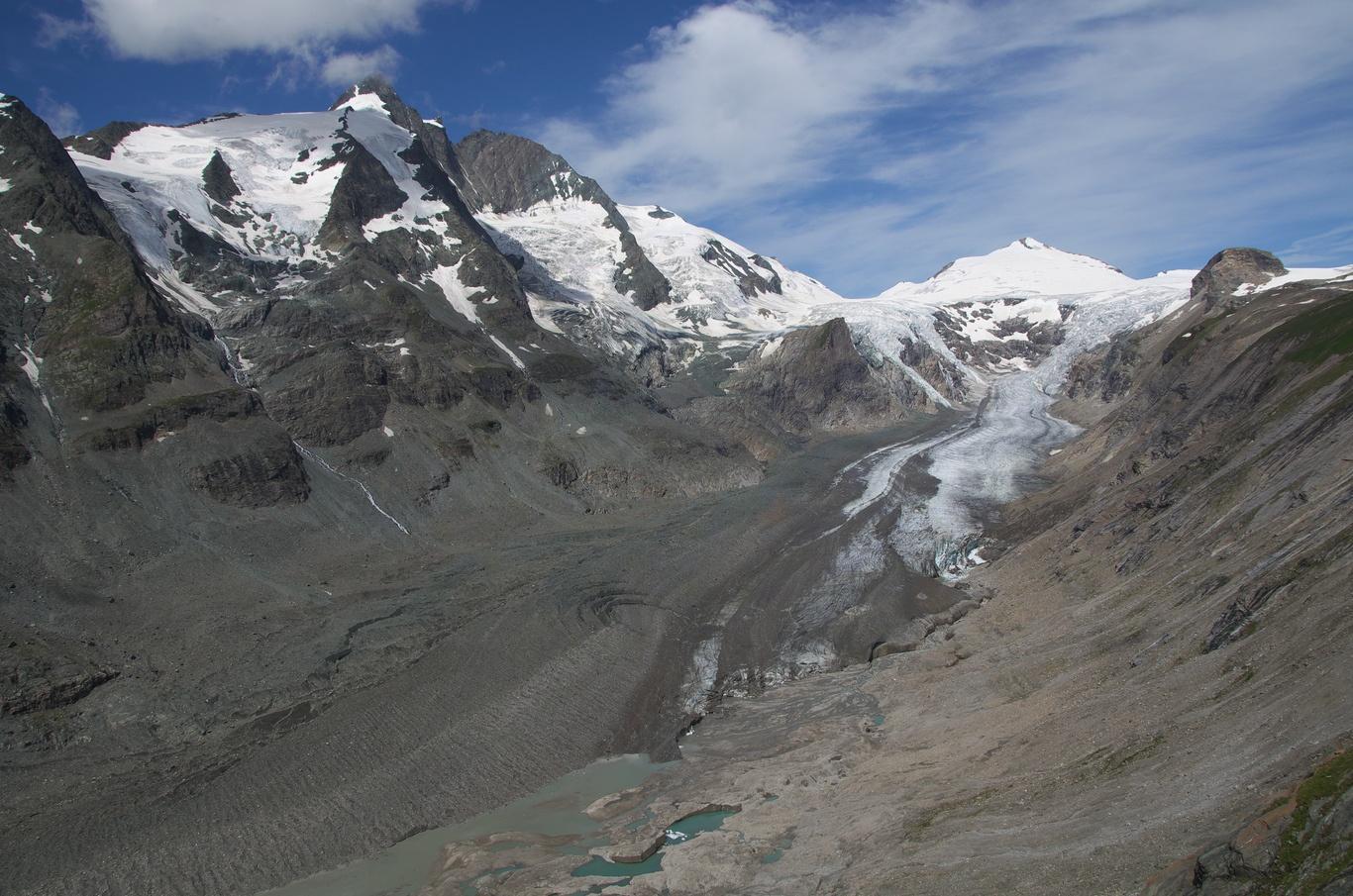Grossglockner, Johannisberg a ledovec Pasterze