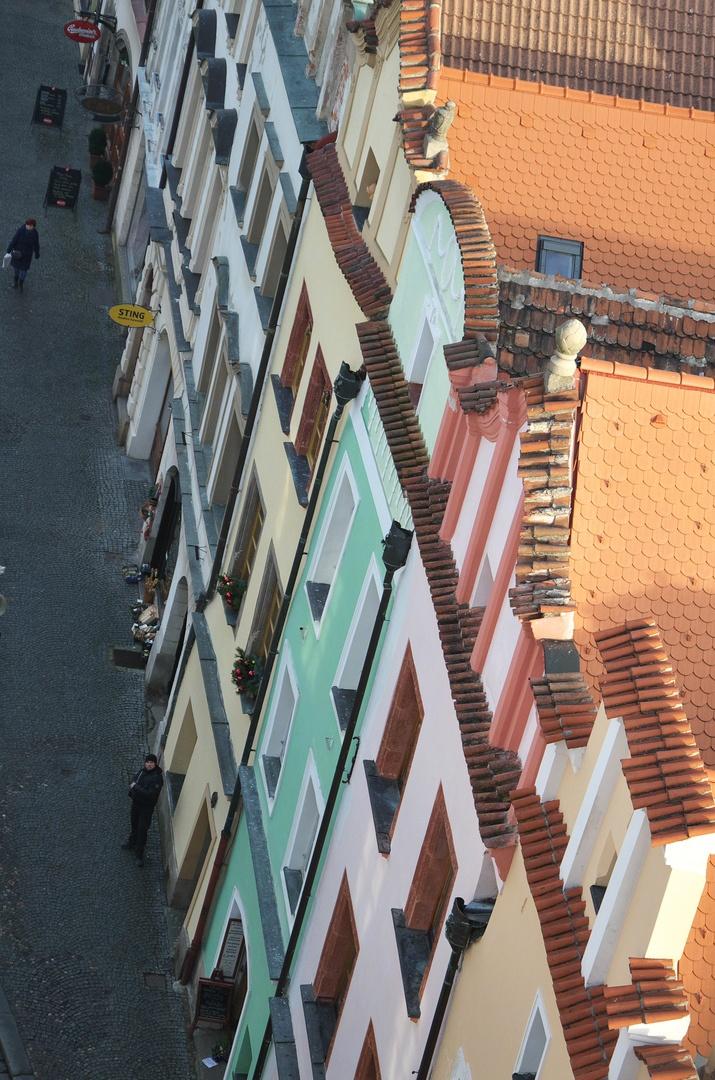 Výhled z věže Zelené brány