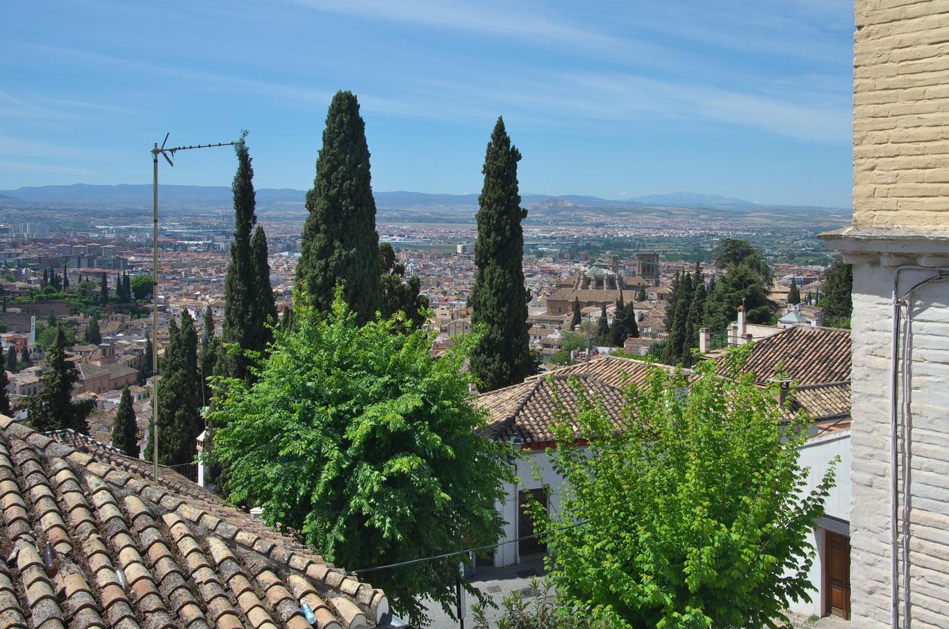 Pohled na Granadu z vyhlídky San Nicolás