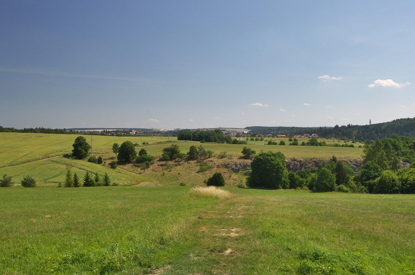 Pohled na obec Jedovnice