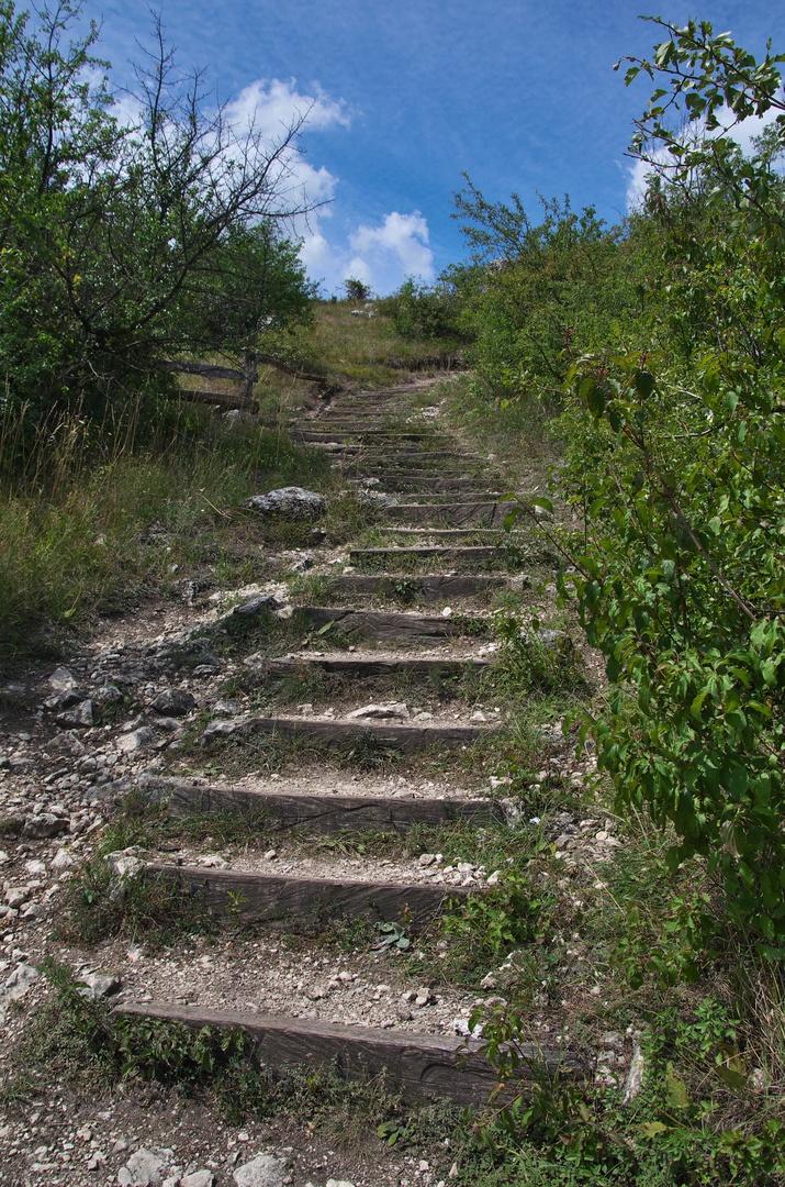 Sestup ze Stolové hory