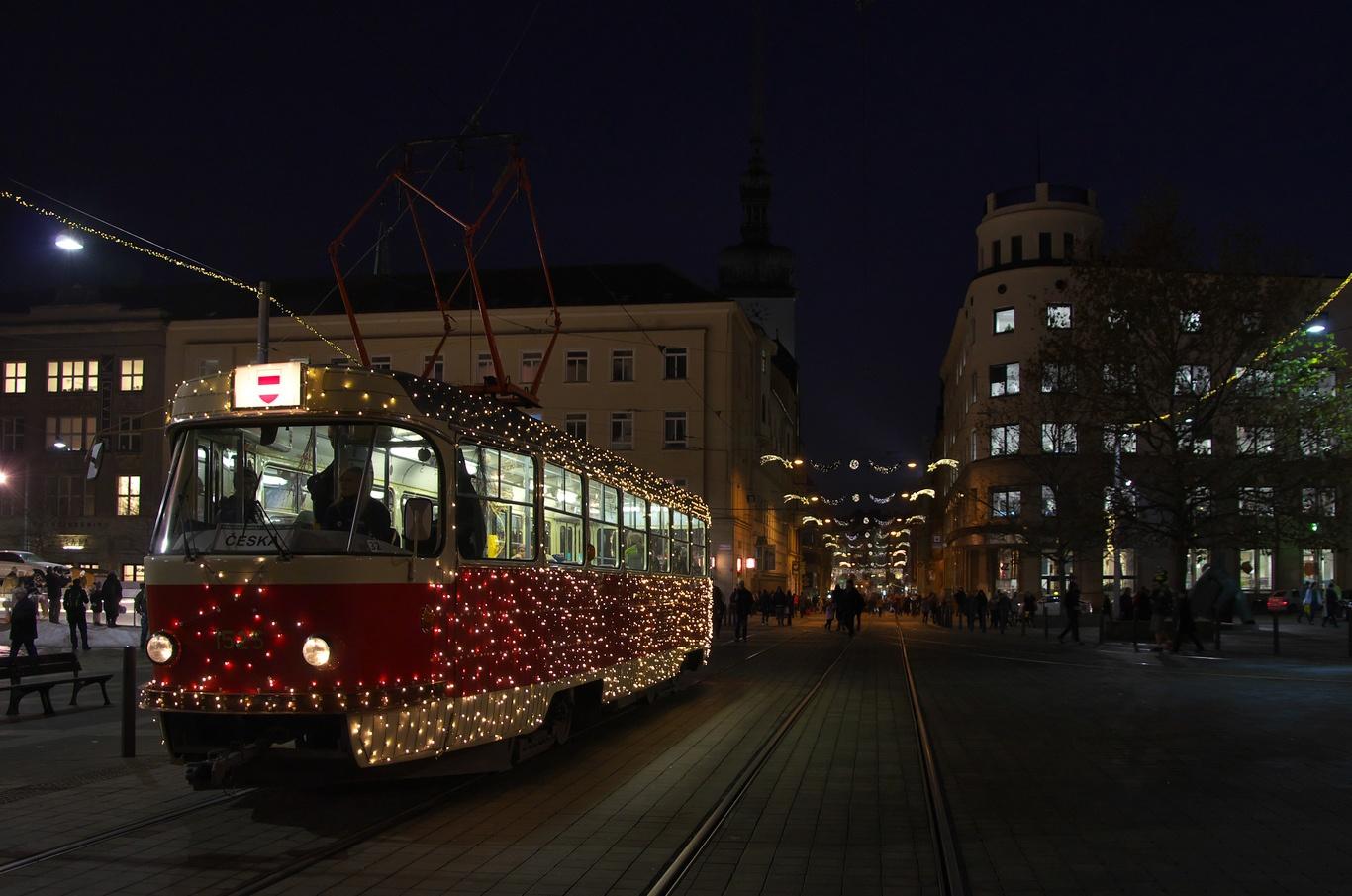 Vánoční šalina na Moravském náměstí