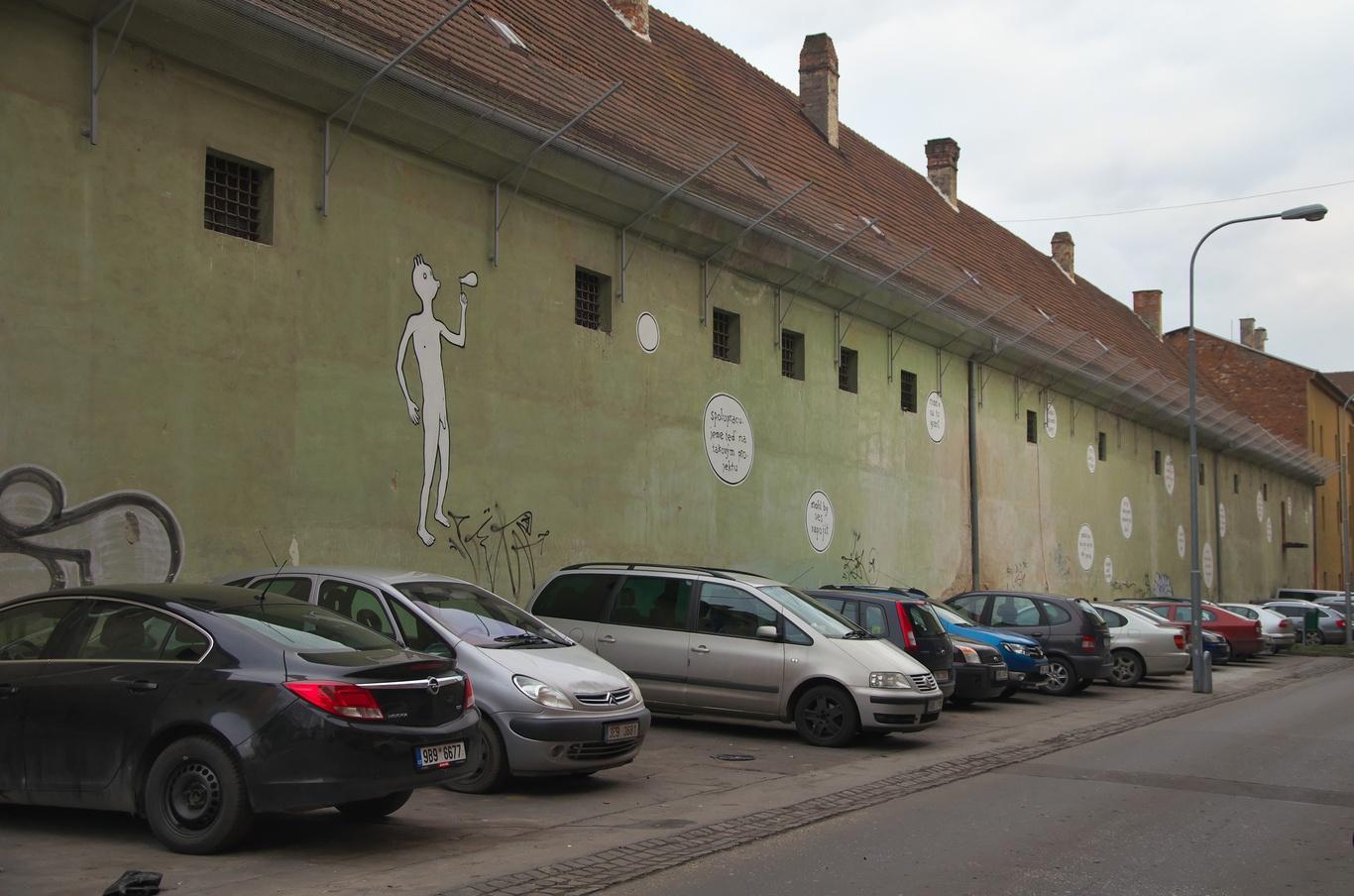 Bývalá brněnská káznice, pohled z ulice Soudní
