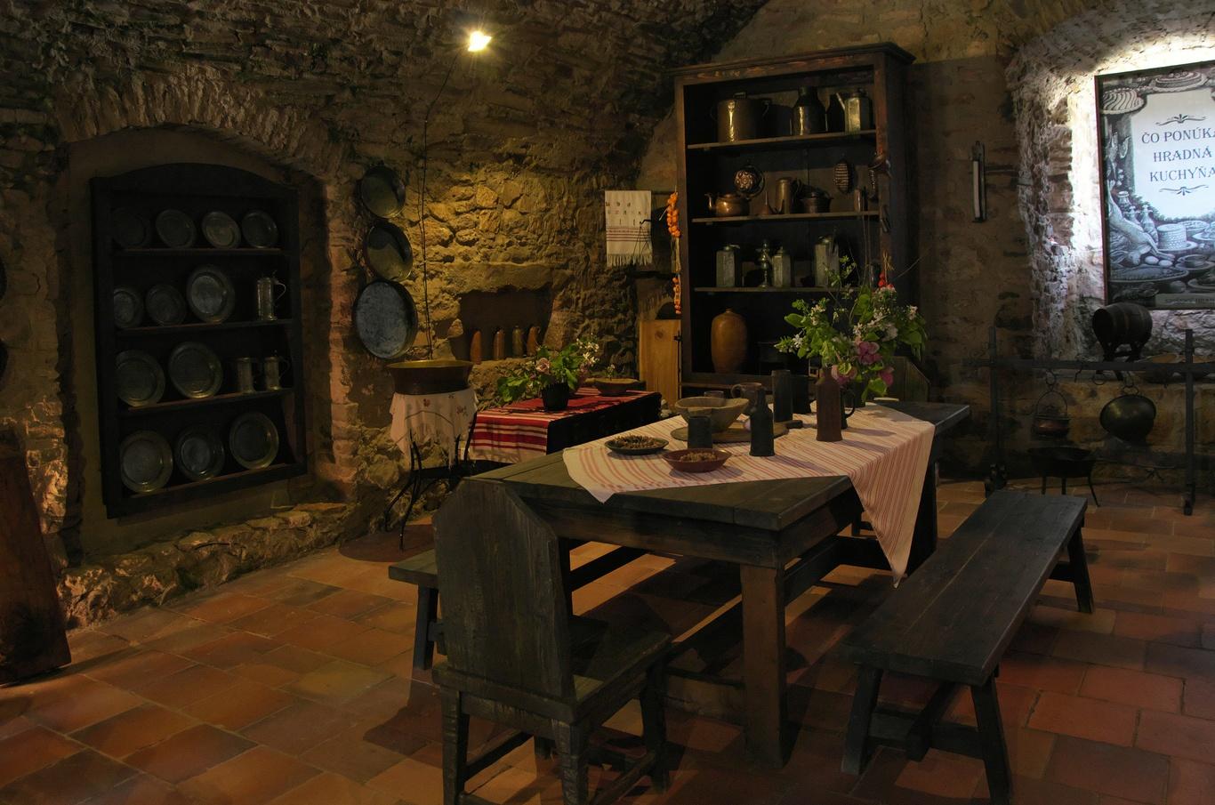 Spišský hrad, černá kuchyně