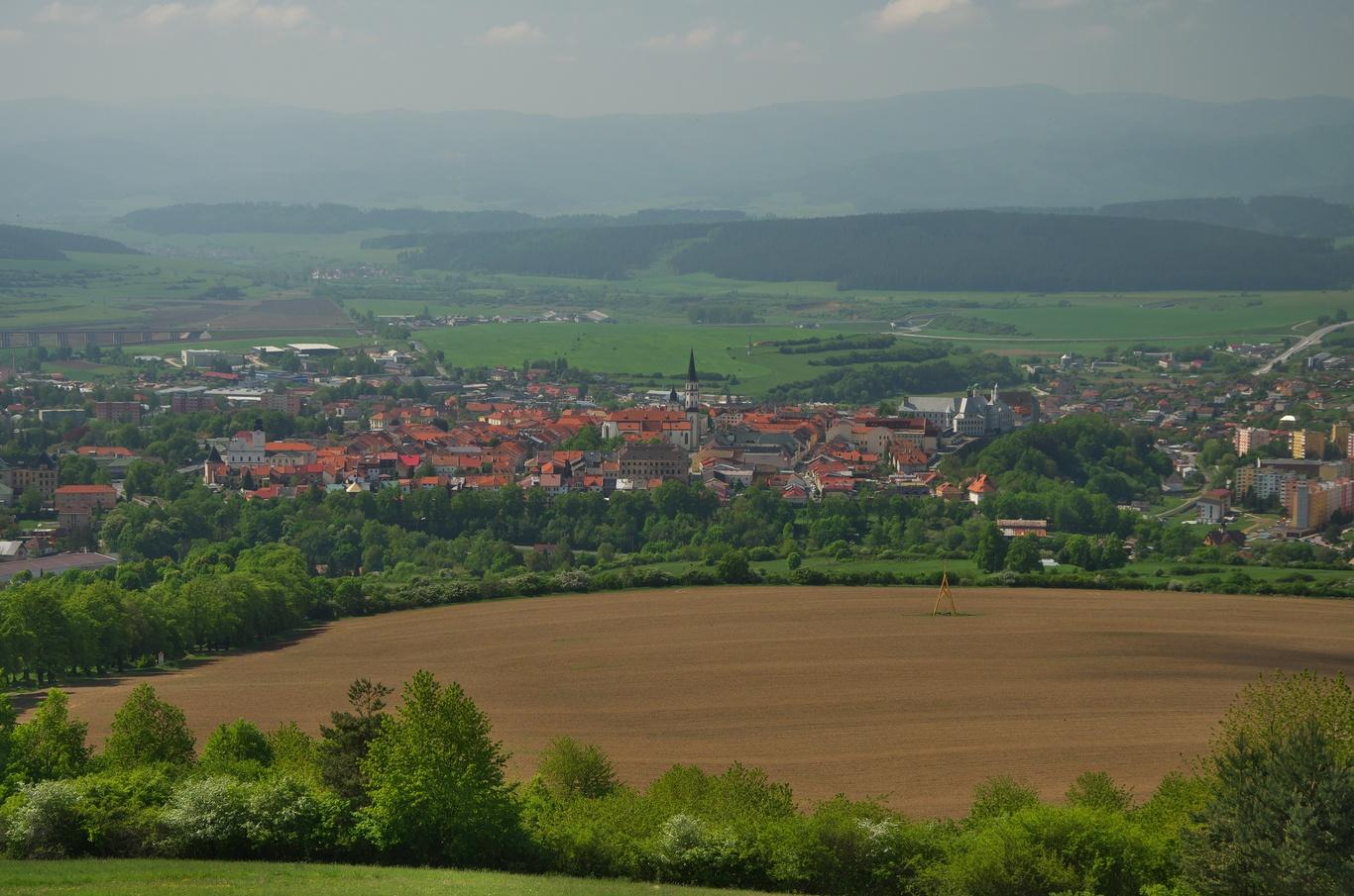 Pohled na Levoču z Mariánské Hory