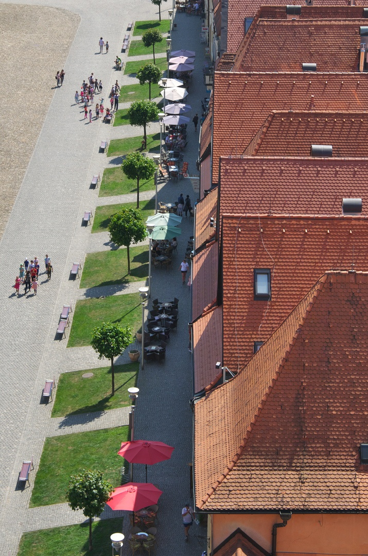 Výhled z věže baziliky sv. Egídia
