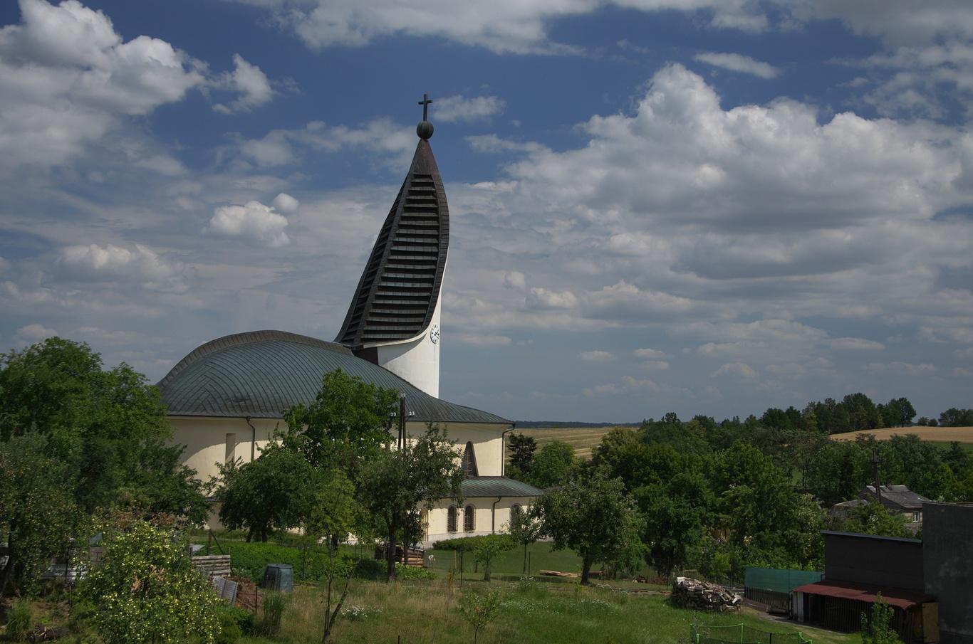 Hněvošice, kostel Krista Dobrého pastýře