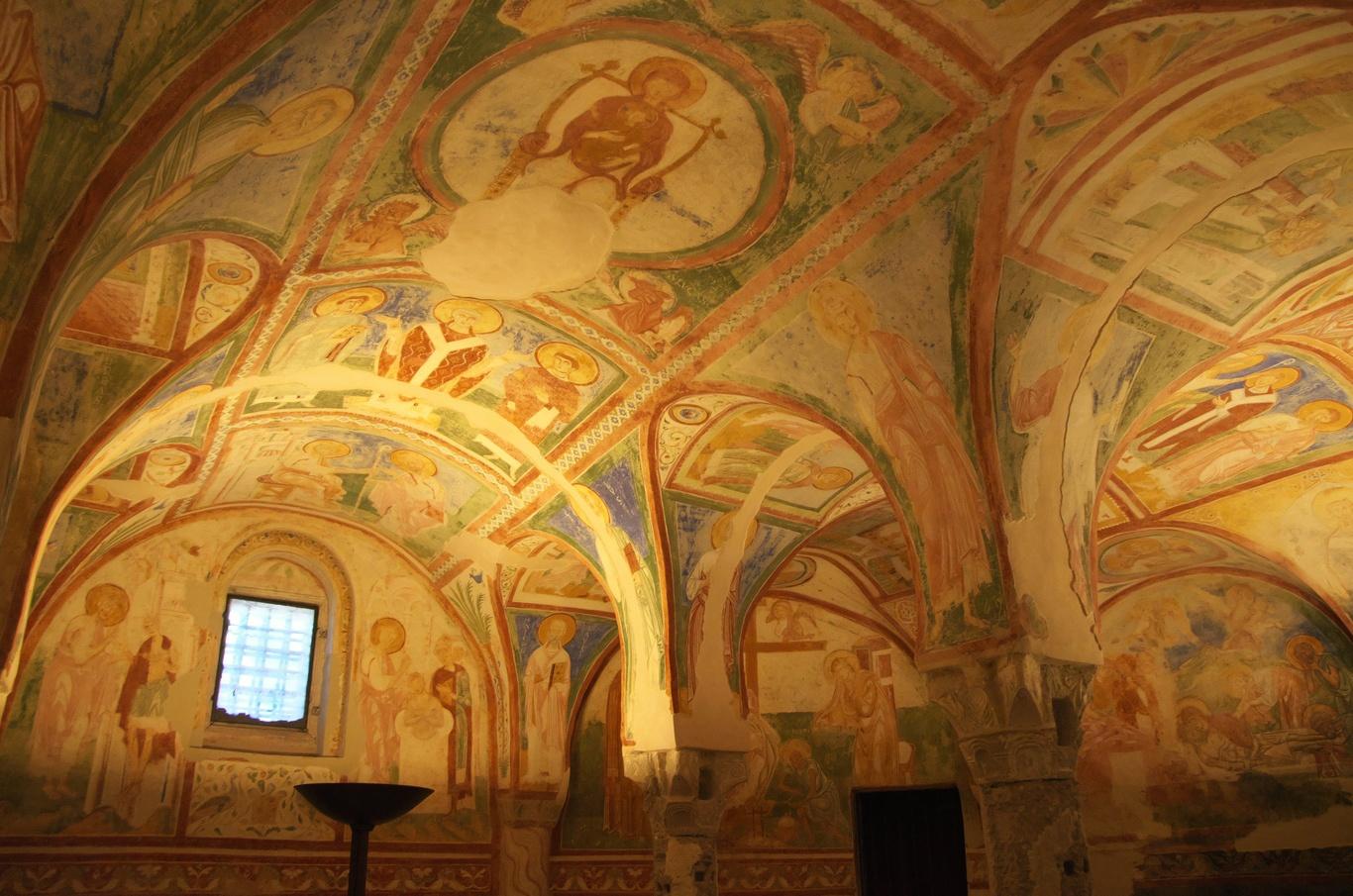 Aquileia, bazilika - krypta s freskami z 12. století (La Cripta degli affreschi)