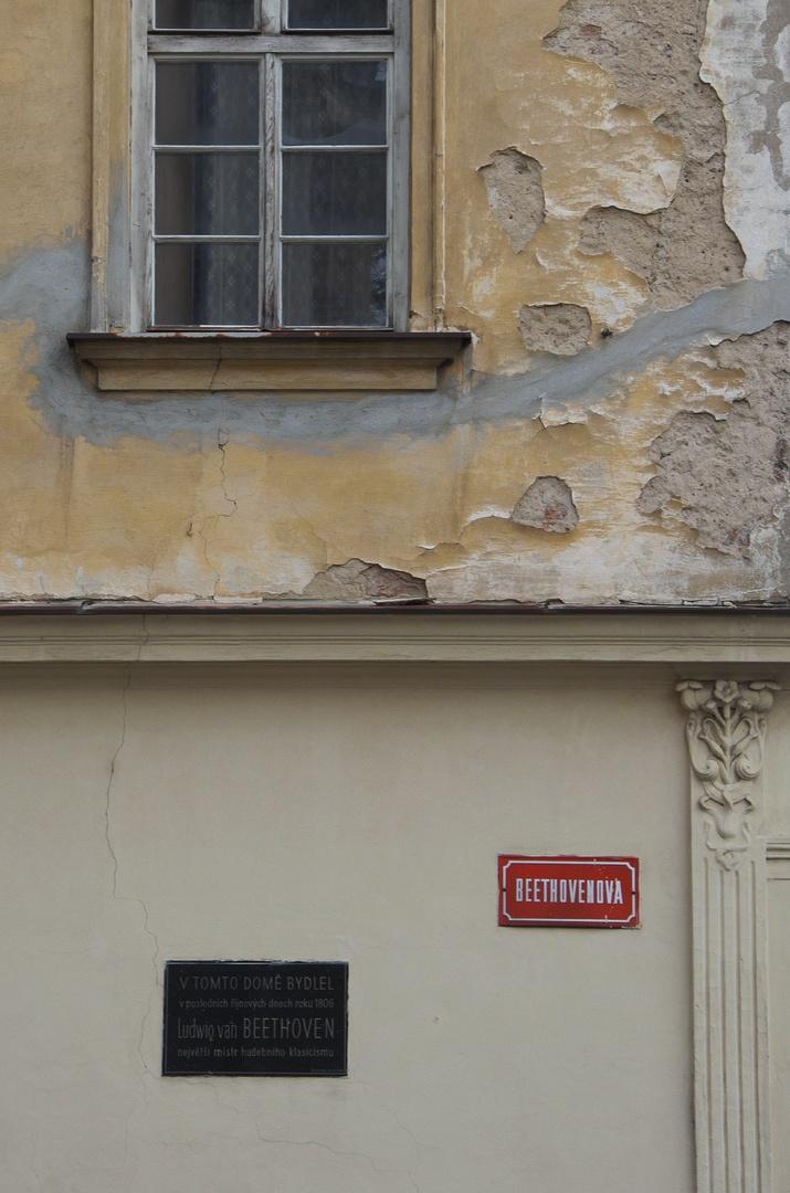 Beethovenova ulice - dům, v němž bydlel L. van Beethoven