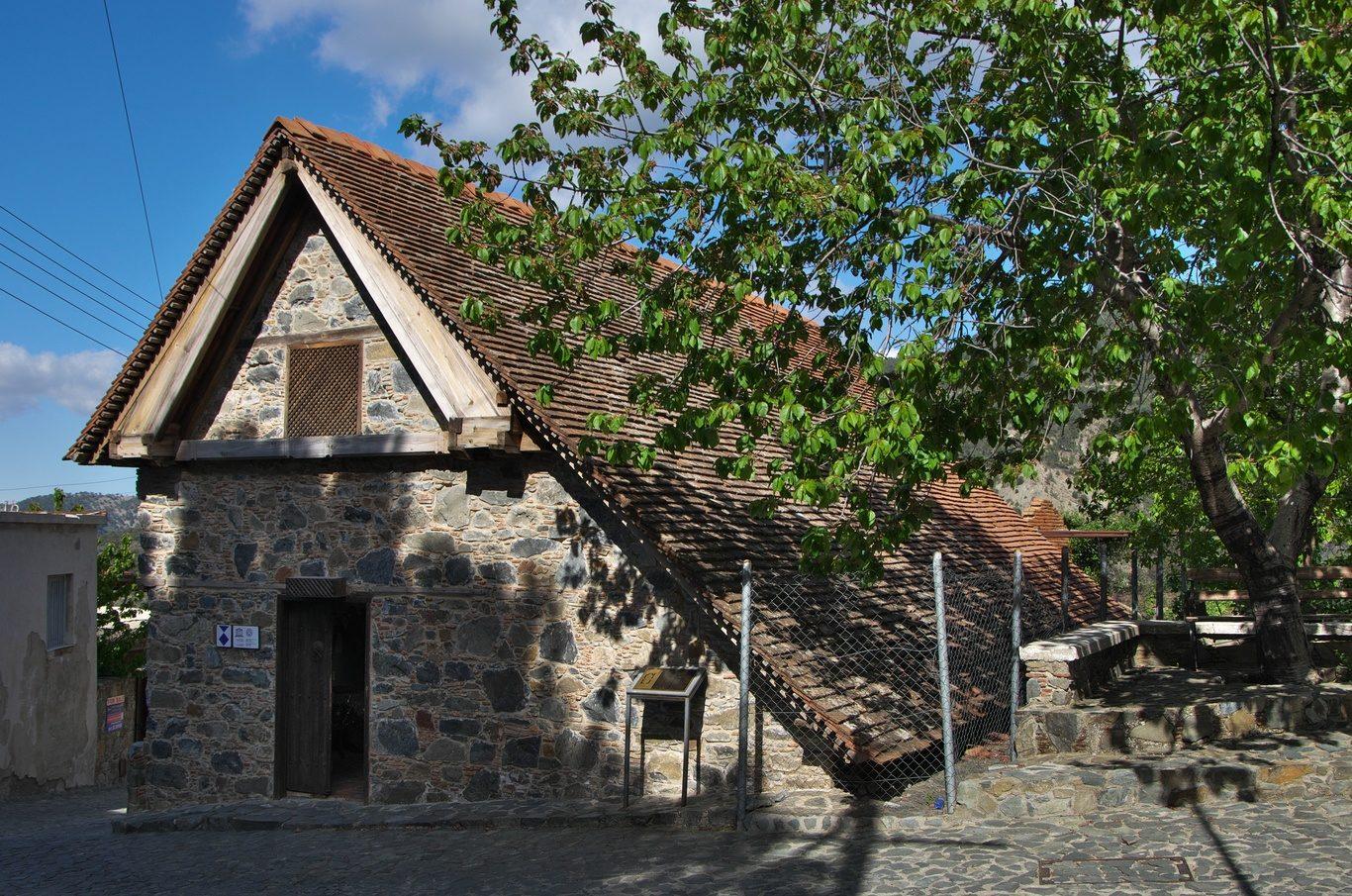 Byzantský kostelík v Panagia tou Moutoulla