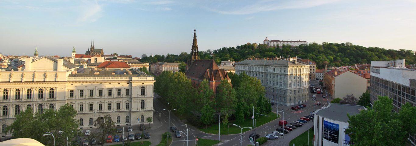 Pohled ze střechy Krajského úřadu