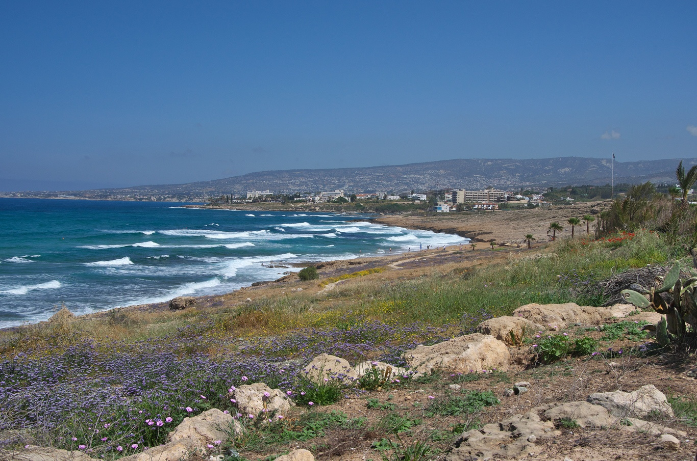 Pobřeží u Paphosu
