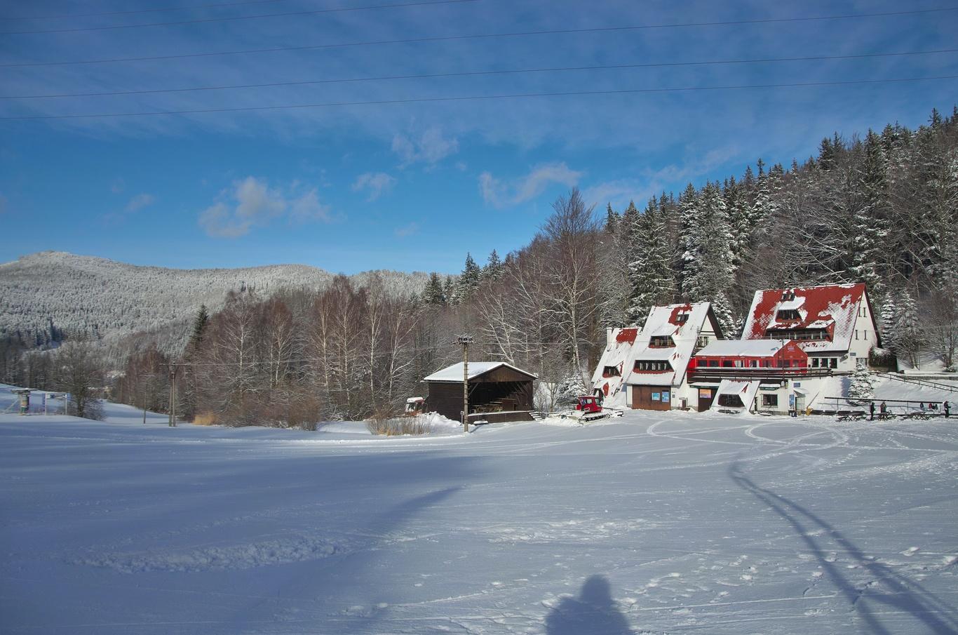 Ski centrum Miroslav, leden 2019